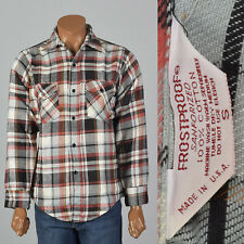 Medium 1960s Cotton Flannel Mens Shirt Deadstock VTG Soft Sanforized Cotton