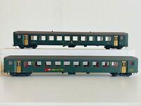 ROCO HO 4238 + 4239 carrozze passeggeri 2° classe SBB, box originale.