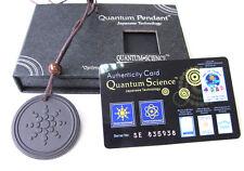 Nuevo Collar Colgante Scalar Bio Energía Cuántica Cadena + tarjeta de autenticidad