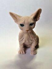 Harmony Kingdom art Neil Eyre Designs Sphynx kitty cat kitten sitting nude flesh