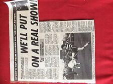 m2H ephemera 1975 football pre match report airdrie motherwell