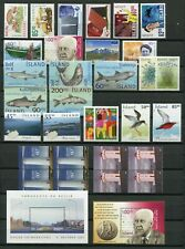 Iceland Year Set 2002 MNH Complete Including Fish & 2x Lighthouse Booklet Panes