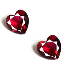 4.90 Carat Burma Ruby Natural Matching Pair Heart Shape Gemstone AGSL Certified