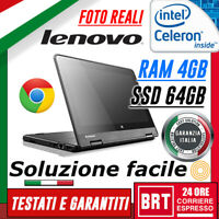 "PC NOTEBOOK LENOVO THINKPAD YOGA 11e 11.6"" CPU CELERON 4GB RAM SSD 64GB WIN 10"