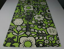 Retro Table Runner- NEW Lime Green Buzoku Cotton Canvas Fabric made in Japan