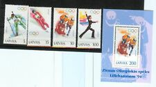 OLYMPIC WINTER GAMES LILLEHAMMER 1994 LATVIA LETTONIA 1994 set+block