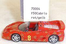 F50 Ferrari Cabrio Mc Donalds rot gelb IMU EUROMODELL 70004 H0 1:87 OVP #LL1 å