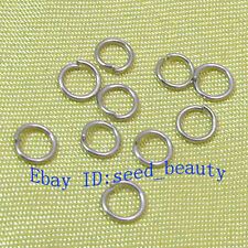 100x White Gold Plated Jump Rings 5mm Jewelry Making Findings