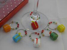 Christmas Present Design Wine Glass Charms ~ FREE P&P