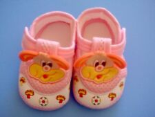 New infant/Baby soft crib doggy shoes, pink, 6-9 months