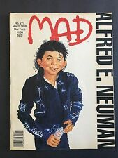 Mad Magazine March 1988 No 277  Michael Jackson's BAD is spoofed by MAD
