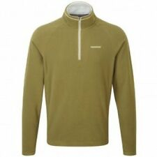 CRAGHOPPERS Selby Half Zip Microflece - Light Olive