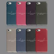 PLAIN BASIC COLOURS PINK BLUE PERSONALISED NAME PHONE CASE FOR IPHONE & SAMSUNG