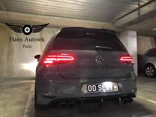 VW Golf MK7 MK7.5 style R LED Dynamic Signal Tail Lamps Lights Tinted tailights