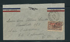 PANAMA 1934 AIRMAIL cover to El SALVADOR (franked with Scott C17)