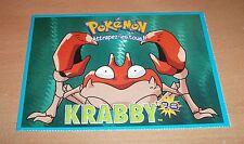 CP CARTE POSTALE POKEMON #98 KRABBY CARD NEUVE - NEW