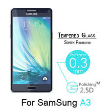 100% Premium Real Tempered Glass Screen Protector Flim For Samsung Galaxy A3