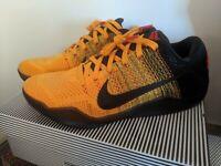 Nike Kobe 11 Bruce Lee 822675 706 Size US 11 University Gold/Blk-Unvrsty Rd