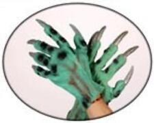 Lote 3 pares guantes garras verdes disfraz monstruo terror halloween