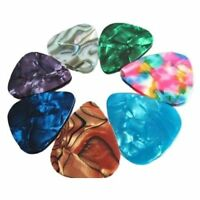 100pcs Guitar Picks Set Acoustic Electric Plectrums Celluloid Assorted Colors