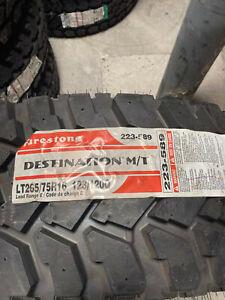 1 New LT 265 75 16 Firestone Destination M/T 10 Ply Mud Tire