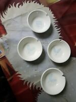 Lot Of 4 3 1/4 Inch Condiment Dish With Blue Wheat