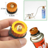 Outdoor BBQ Gas Stove Burner Converter Connector Gas Can Tank Adapter Camping