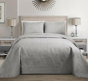 Fancy Collection 3pc King/California King Embossed Oversized Coverlet Bedspread
