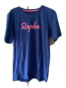 Navy & Pink Logo Rapha T-Shirt - Size Large