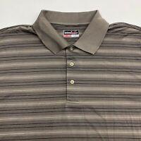 Grandslam Performance Polo Shirt Men's Size 2XL XXL Short Sleeve Brown Black