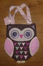 **BNWT**  Girls Owl Handbag - Accessorize - Applique Fabric - RRP £12