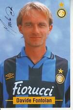 FOOTBALL carte joueur DAVIDE FONTOLAN équipe INTER DE MILAN