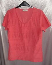 Lovely PER UNA stretchy textured coral colour T-shirt/top UK size 14