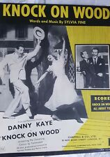 """""""Knock On Wood"""" Sheet Music from the 1954 film. Danny Kaye & Mai Zetterling"""