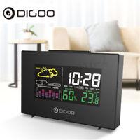 Digoo USB LCD Wireless previsioni meteo stazione temperatura umidità sveglia...
