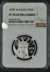 1999-W Proof Platinum Eagle $50 1/2ozt NGC PF70 Ultra Cameo