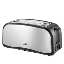 LENTZ 4-Scheiben Toaster mit Brötchenaufsatz Langschlitztoaster Toastautomat NEU