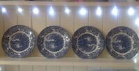 "Set of 4 Churchill English Scene 8"" /20cm Side Plates"