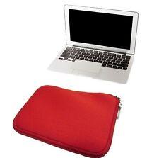 """FUNDA DE NEOPRENO bolsa con cremallera para MacBook Air 13 pulgadas 13"""" roja"""