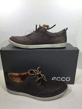 ECCO Collin Men's Sz 8 - 8.5 EU 42 Brown Lace Up Casual Sneakers Shoes X2-1143