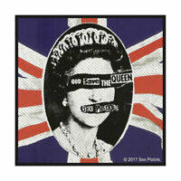 OFFICIAL LICENSED - SEX PISTOLS - GOD SAVE THE QUEEN SEW ON PATCH PUNK