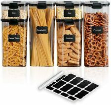 New ListingAirtight Food Storage Containers With Lids Set Of 6 Plastic Stackable Organizer
