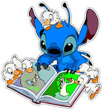 "Lilo & Stitch Kids Book Cartoon Car Bumper Window Sticker Decal 4.5""X4.5"""