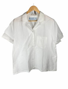 New Vintage Red Kap White Size XL Short Sleeve Button Up Free US Shipping
