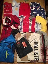Boys L 14/16 Bulk Clothing 19 Pc. Abercrombie Hollister Joggers NWT Arizona Jean