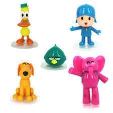 5 pcs Pocoyo Zinkia Elly Pato Loula Sleepy Bird Action Figures Toy Cake Topper