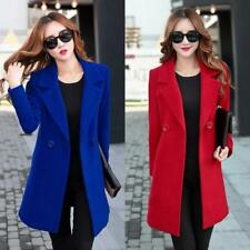 New Women's Wool Blend Warm Long Jacket Padded Coat Stylish Outwear Overcoat