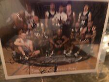 NJ Nets 2000/01 Autographed 8x10 Team Photo! Stephon Marbury
