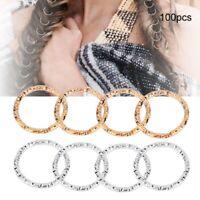 100pcs Hair Braid Rings Dreadlock Hair Clips Loops Decoration Women Use New
