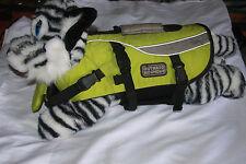 Outward Hound Dog Life Jacket Vest Preserver Floating Safety Green Smaller Size